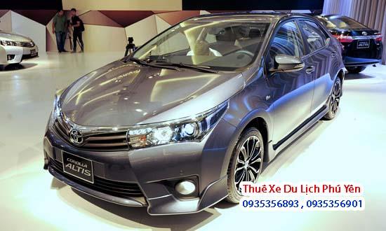 Dịch vụ cho thuê xe du lịch 4 chỗ Toyota Corolla Altis tại Phú Yên