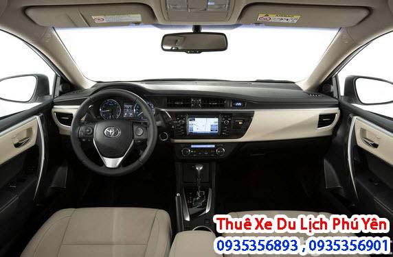 Nội thất xe cho thuê 4 chỗ Toyota altis Phú Yên : sang trọng,đầy đủ những tiện nghi cần thiết