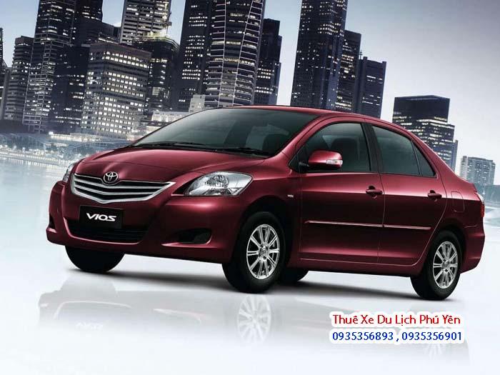 Thuê xe 4 chỗ Toyota vios tại Tuy Hòa Phú Yên nhiều màu cho khách tùy ý lựa chọn